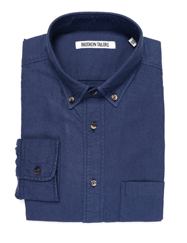 BROOKLYN TAILORS - BKT10 Slim Casual Shirt in Classic Oxford - Ink