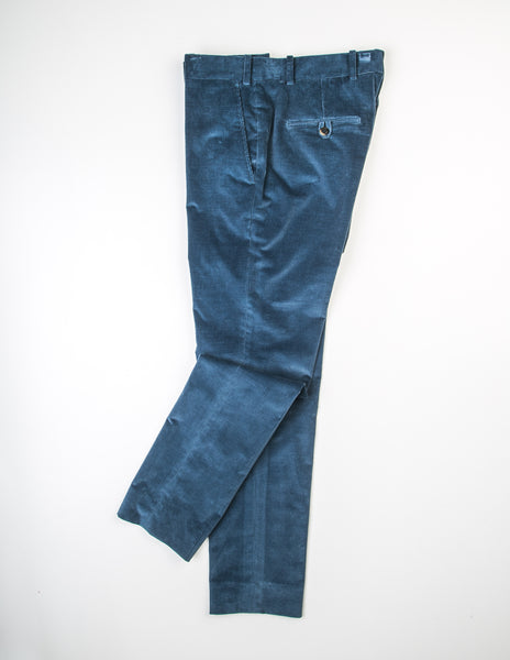 BROOKLYN TAILORS - BKT35 Tailored Trousers in Corduroy - Blue