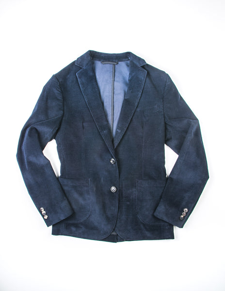 BROOKLYN TAILORS - BKT35 Unstructured Jacket in Corduroy - Navy