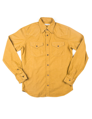BROOKLYN TAILORS - BKT13 Cowboy Shirt in Crisp Mustard Poplin
