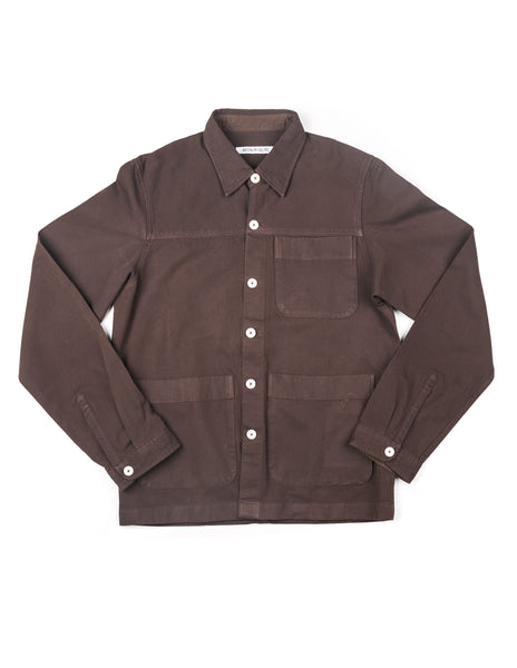 FINAL SALE - BROOKLYN TAILORS - BKT15 Shirt Jacket in Brown Cotton Twill