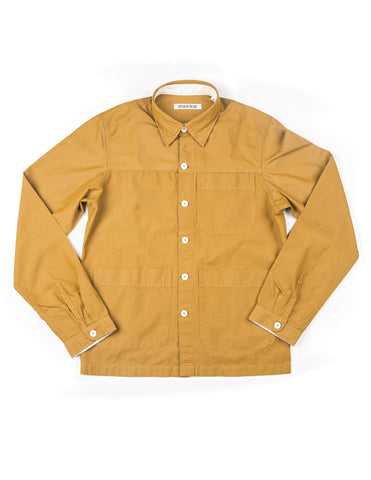 BROOKLYN TAILORS - BKT15 Shirt Jacket in Mustard Crisp Poplin