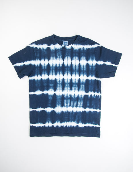 VELVA SHEEN - Stripe Tie Dye in Navy