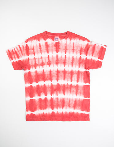 FINAL SALE: VELVA SHEEN - Stripe Tie Dye in Red
