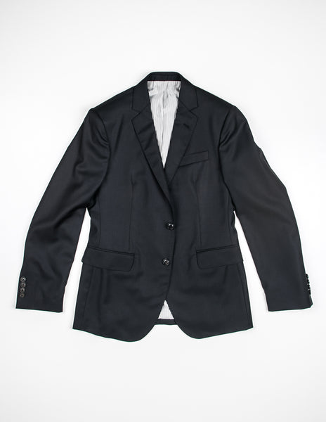 BROOKLYN TAILORS - Full Canvas Tailored Jacket - Black Super 110s