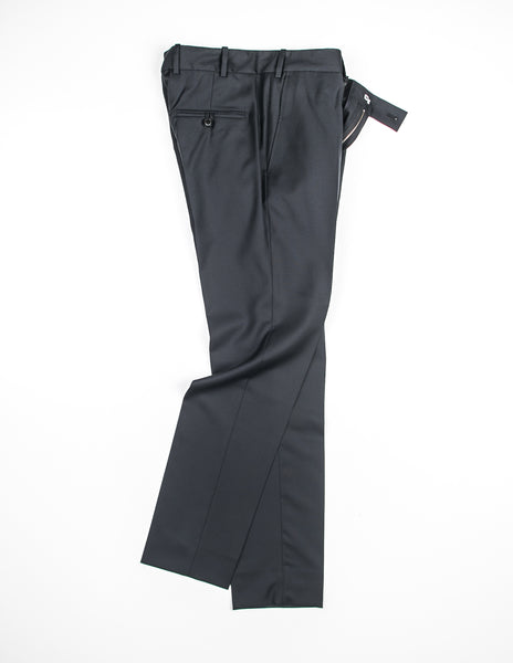 FINAL SALE - BROOKLYN TAILORS - BKT50 Trouser in Italian Wool - Black