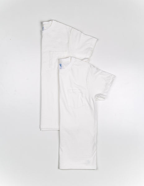 VELVA SHEEN - 2 Pack Short Sleeve Pocket Tee in White