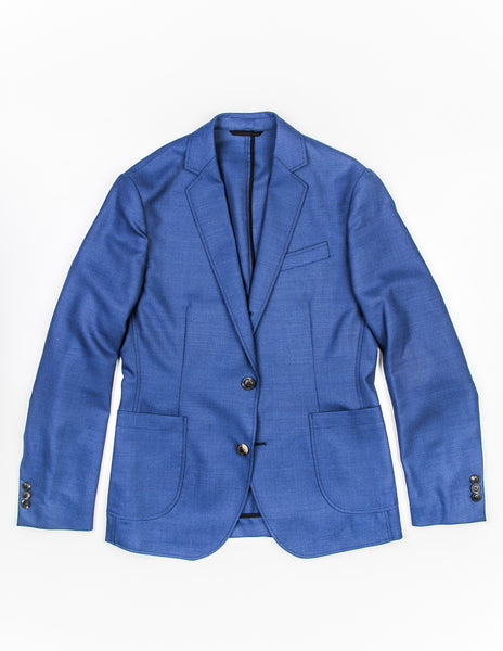 BROOKLYN TAILORS - BKT35 Blazer in Bright Blue Hopsack