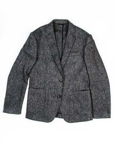BROOKLYN TAILORS - BKT35 Jacket in Grey Basketweave Tweed