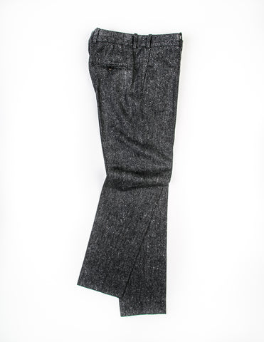 BROOKLYN TAILORS - BKT50 Tailored Trousers in Grey Basketweave Tweed