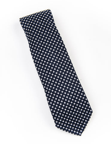BROOKLYN TAILORS - Untipped Navy with White Micro Tie