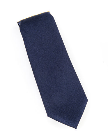 BROOKLYN TAILORS - Navy Wool/Mohair Tie