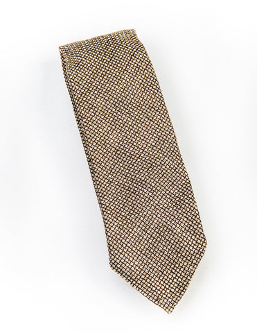 FINAL SALE- BROOKLYN TAILORS - Unlined Micro Weave Tie - Beach Sand