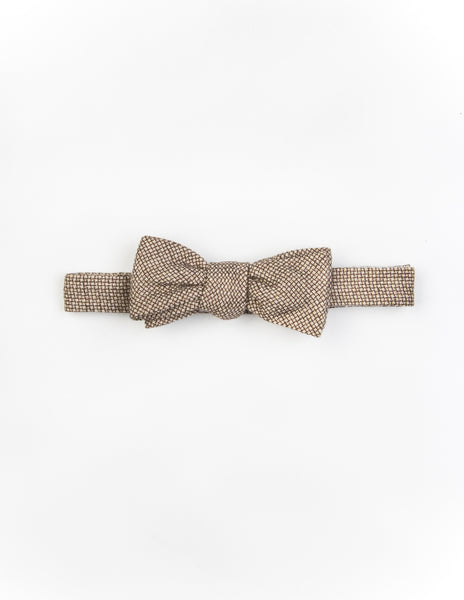FINAL SALE: BROOKLYN TAILORS - Pre-Tied Microweave Bow Tie - Beach Sand