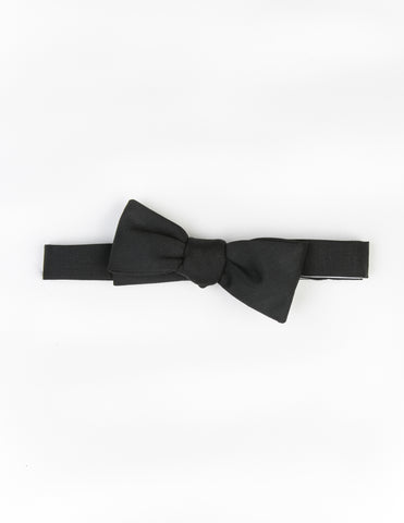 BROOKLYN TAILORS - Almost Black Wool/Mohair Bowtie