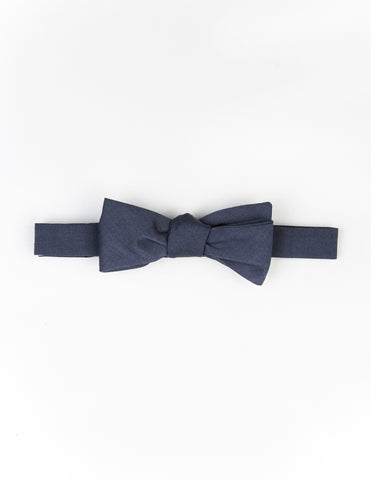 FINAL SALE: BROOKLYN TAILORS - Postman Blue Wool/Mohair Bow Tie