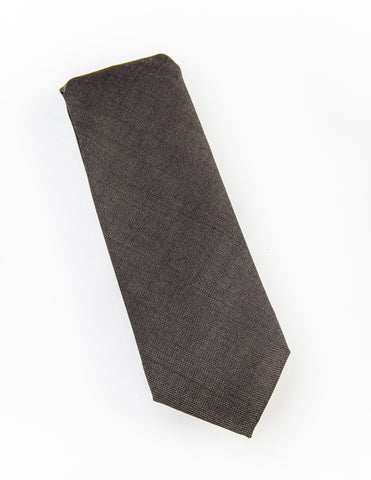 BROOKLYN TAILORS - Muted Brown Wool/Mohair Tie