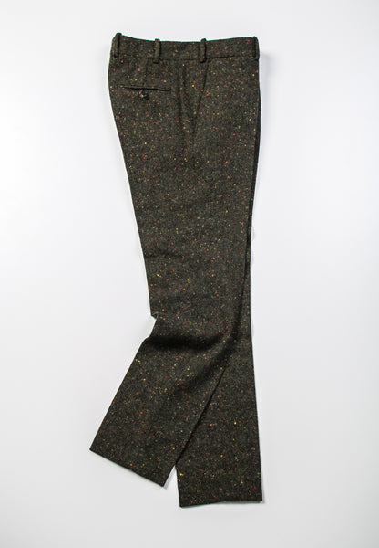 BROOKLYN TAILORS - BKT50 Tailored Trousers in Green Donegal Tweed