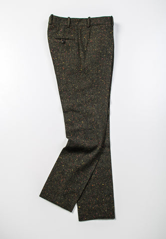 BROOKLYN TAILORS - Donegal Trouser in Green with Confetti Flecks
