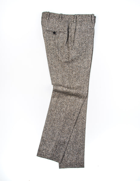 BROOKLYN TAILORS - BKT50 Tailored Trousers in Muted Brown Tweed