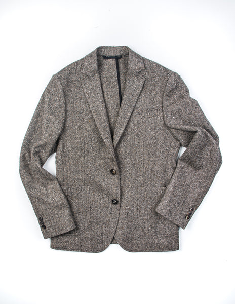BROOKLYN TAILORS - BKT35 Unstructured Jacket in Muted Brown Tweed