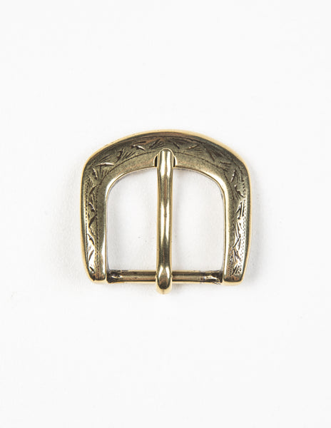 BROOKLYN TAILORS X SADDLER'S - 25 MM Western Engraved Buckle in Natural Brass