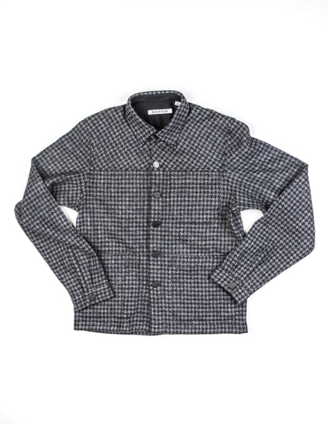 BROOKLYN TAILORS - BKT15 Shirt Jacket in Gray/Black Houndstooth Tweed