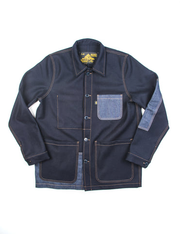 LE MONT ST MICHEL- Patch Work Jacket in Navy