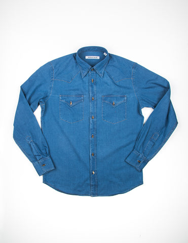 BROOKLYN TAILORS - BKT13 Cowboy Shirt in Indigo Twill