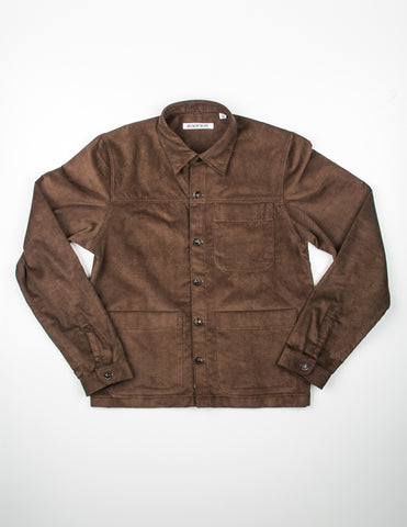 FINAL SALE - BROOKLYN TAILORS - BKT15 Shirt Jacket in Brown Corduroy