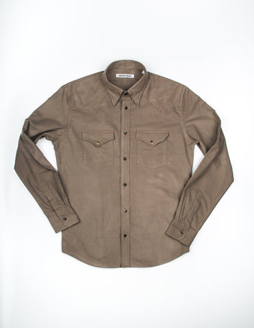 FINAL SALE - BROOKLYN TAILORS - BKT13 Cowboy Shirt in Sand Baby Corduroy