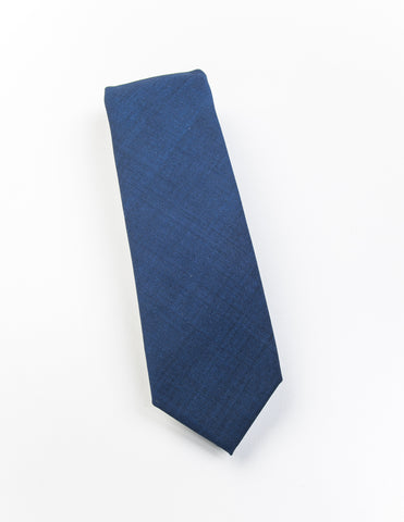 BROOKLYN TAILORS - Super Fine Wool & Mohair Necktie - Airborne Blue
