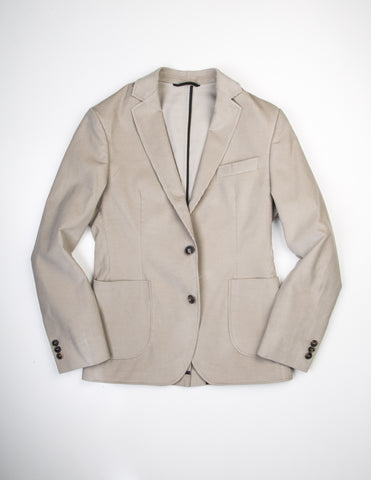 FINAL SALE - BROOKLYN TAILORS - BKT35 Unstructured Blazer in Sand Corduroy