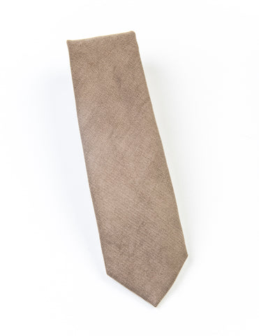FINAL SALE: BROOKLYN TAILORS - Corduroy Necktie - Desert Sand