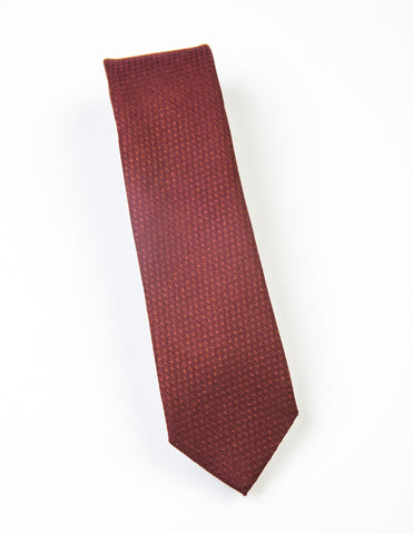 BROOKYN TAILORS - Brick Red Textured Weave Tie