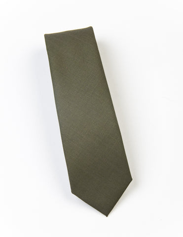 FINAL SALE - BROOKLYN TAILORS - Wool Necktie in Fern Green