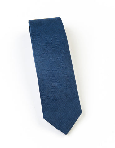 FINAL SALE: BROOKLYN TAILORS - Corduroy Necktie - Olympic Blue