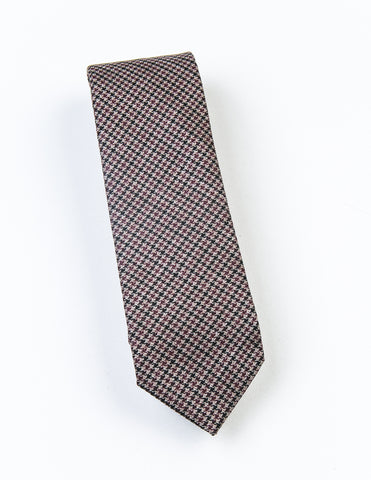 FINAL SALE: BROOKLYN TAILORS - Burgundy Houndstooth Tie