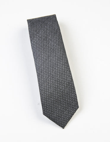 FINAL SALE: BROOKLYN TAILORS - Textured Wool Tie - Cloud Gray