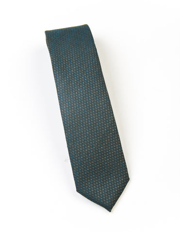 BROOKLYN TAILORS - Blue/Green Textured Weave Tie