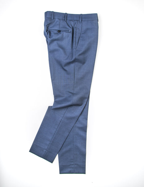 FINAL SALE: BROOKLYN TAILORS - BKT50 Tailored Trousers in Heathered Rustic Blue