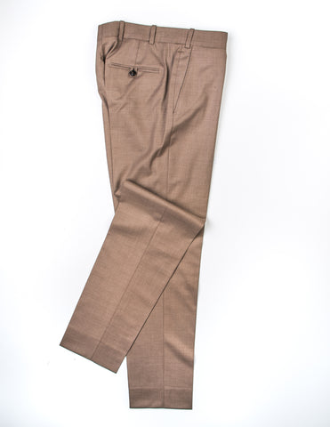 FINAL SALE: BROOKLYN TAILORS - BKT50 Tailored Trousers in Golden Brown