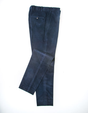FINAL SALE - BROOKLYN TAILORS - BKT50 Tailored Trousers in Dark Navy Corduroy