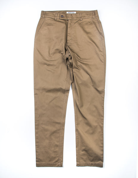 FINAL SALE: BROOKLYN TAILORS - BKT30 Slim-Fit Chino in Tobacco Brown