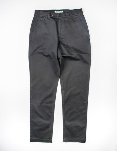 FINAL SALE: BROOKLYN TAILORS - BKT30 Slim-Fit Chino in Black