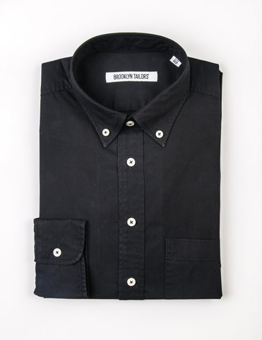 BROOKLYN TAILORS - BKT10 Sport Shirt in Midnight Navy Poplin