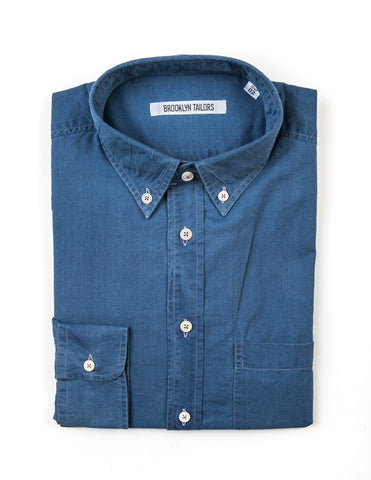 BROOKLYN TAILORS - BKT10 Sport Shirt in Indigo Denim