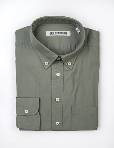 BROOKLYN TAILORS - BKT10 Sport Shirt in Cedar Poplin