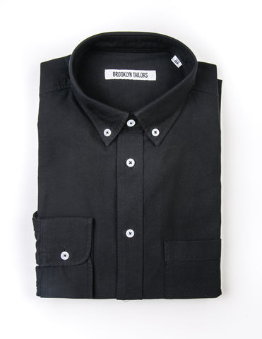 BROOKLYN TAILORS - BKT10 Sport Shirt in Black Oxford