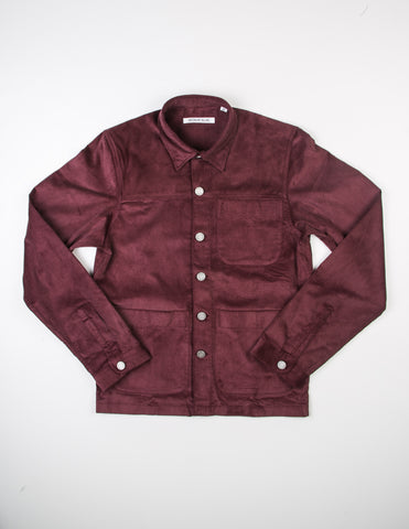 FINAL SALE - BROOKLYN TAILORS - BKT15 Shirt Jacket in Wine Red Corduroy